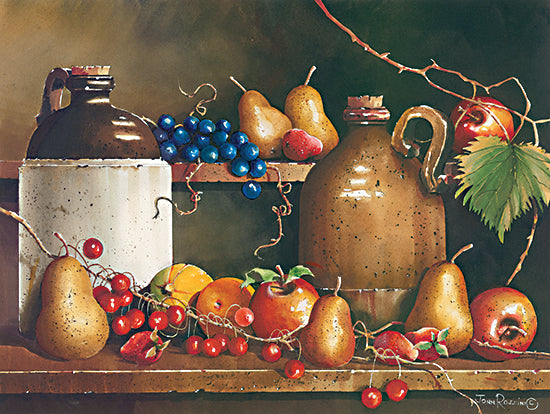 John Rossini JR367 - JR367 - A Passion for Fruit - 16x12 Still Life, Fruit, Jugs, Pears, Apples, Berries from Penny Lane