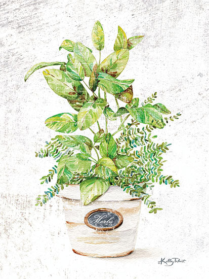 Kelley Talent KEL105 - KEL105 - Potted Herbs - 12x16 Potted Herbs, Herbs, Shabby Chic from Penny Lane