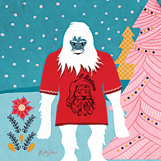 Kelley Talent KEL191 - KEL191 - Sasquatch I Believe - 12x12 Sasquatch, Big Foot, Holidays, Fantasy, Christmas from Penny Lane