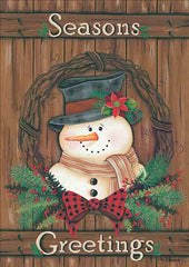 KEN1083 - Primitive Snowman Wreath - 12x18