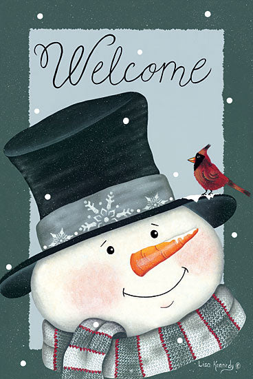 Lisa Kennedy KEN1092 - KEN1092 - Cardinals Welcome - 12x18 Signs, Typography, Welcome, Snowman, Cardinal from Penny Lane