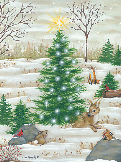 Lisa Kennedy KEN1102 - KEN1102 - Baby Deer - 12x16 Christmas, Trees, Deer, Cardinal, Rabbit, Fox, Chipmunk from Penny Lane
