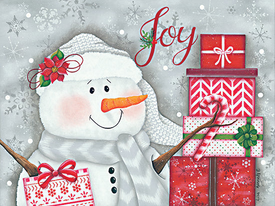 Lisa Kennedy KEN1159 - KEN1159 - Joy & Giving - 16x12 Snowman, Joy, Presents, Holidays, Christmas, Signs from Penny Lane