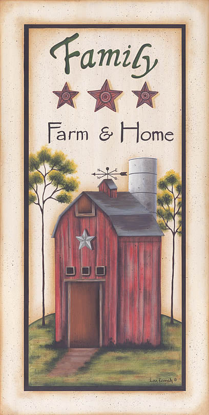 Lisa Kennedy KEN485A - Family Farm & Home - Saltbox House, Trees, Barn Stars, Signs, Family from Penny Lane Publishing