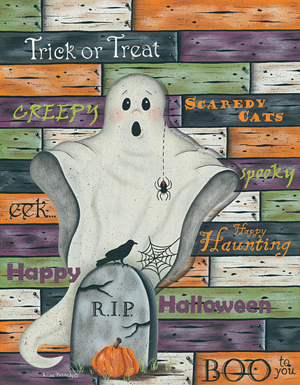 Lisa Kennedy KEN756 - Ghost - Halloween - Ghost, Halloween, Seasons, Scary, Typography from Penny Lane Publishing