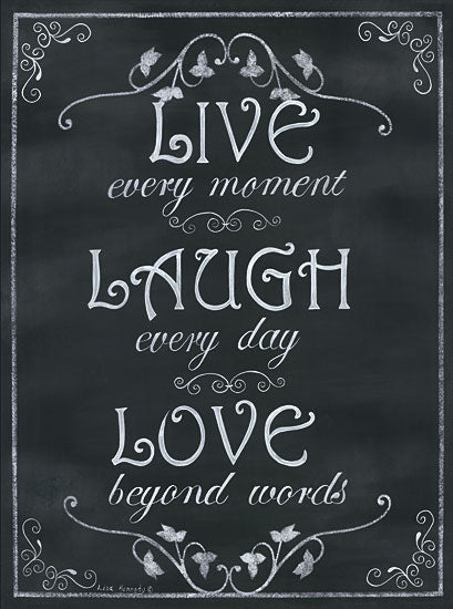 Lisa Kennedy KEN854 - Live Every Moment - Chalkboard, Signs from Penny Lane Publishing