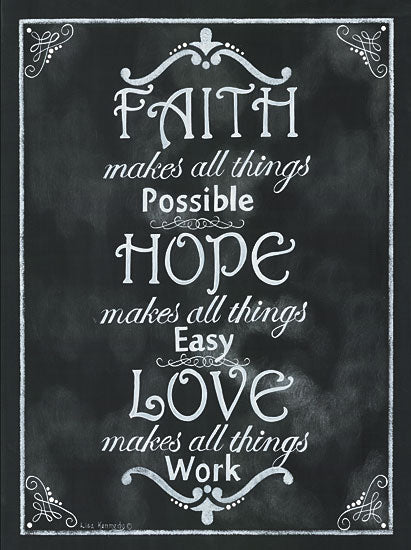 Lisa Kennedy KEN862 - Faith*Hope*Love - Chalkboard, Signs, Love from Penny Lane Publishing