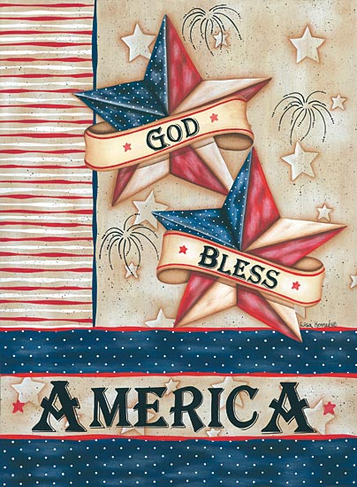 Lisa Kennedy KEN932 - God Bless America - God, America, Barn Star, Patriotic from Penny Lane Publishing