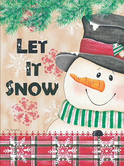 Lisa Kennedy KEN936 - Let It Snow - Snowman, Winter, Holidays, Holly from Penny Lane Publishing