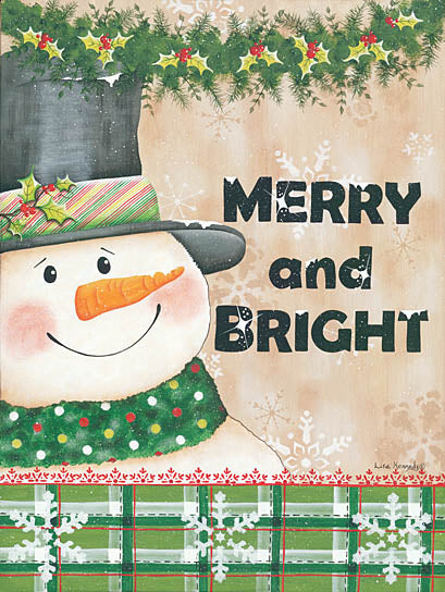 Lisa Kennedy KEN937 - Merry & Bright - Snowman, Winter, Holidays, Holly from Penny Lane Publishing