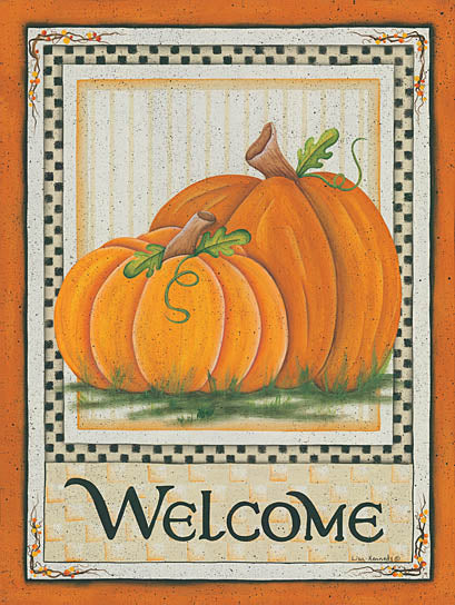 Lisa Kennedy KEN940 - Fall Pumpkin Welcome - Pumpkin, Autumn, Welcome, Signs from Penny Lane Publishing