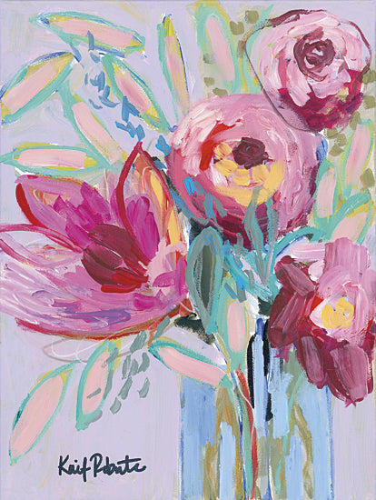 Kait Roberts KR161 - KR161 - Summer Blooms - 12x16 Summer Blooms, Flowers, Pink Flowers, Bouquet, Vase from Penny Lane