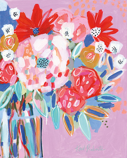 Kait Roberts KR299 - KR299 - Tell Me a Story with Flowers   - 12x16 Abstract, Flowers, Bouquet, Vase from Penny Lane