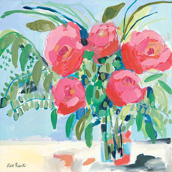 Kait Roberts KR410 - KR410 - Look how Far We've Come - 12x12 Flowers, Bouquet, Roses, Vase, Still Life from Penny Lane