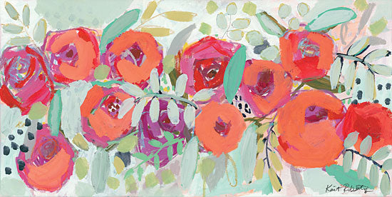 Kait Roberts KR413 - KR413 - Sweet Nothings - 24x12 Abstract, Flowers, Red Flowers, Botanical from Penny Lane