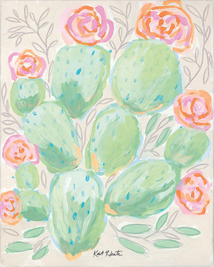 Kait Roberts KR462 - KR462 - Life Can Be Prickly… Bloom Anyway   - 12x16 Cactus, Flowers, Greenery from Penny Lane