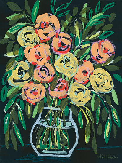 Kait Roberts KR463 - KR463 - Blooming at Night     - 12x16 Flowers, Bouquet, Vase from Penny Lane