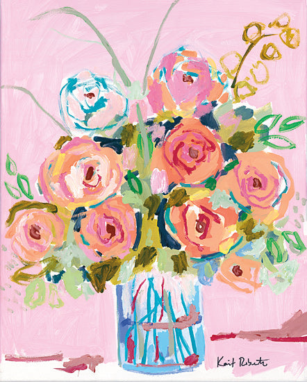 Kait Roberts KR466 - KR466 - Dreaming in Ballet Slipper Pink - 12x16 Flowers, Bouquet, Vase, Still Life from Penny Lane