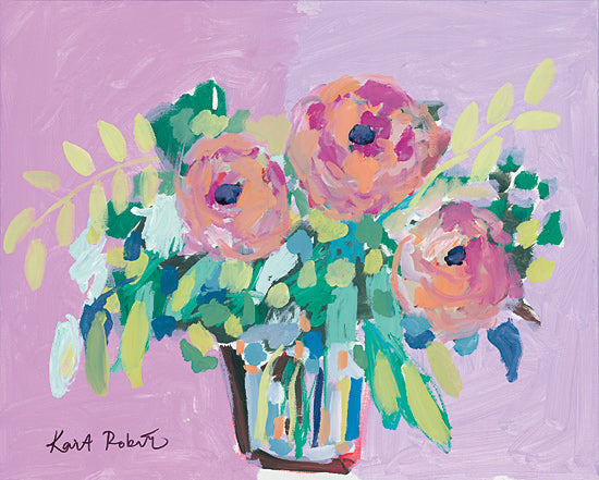Kait Roberts KR503 - KR503 - In Full Spring - 16x12 Pink Flowers, Flowers, Vase, Bouquet, Blooms, Botanical from Penny Lane