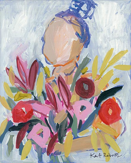 Kait Roberts KR506 - KR506 - I Can Smell Spring - 12x16 Abstract, Flowers, Woman, Abstract, Figurative from Penny Lane
