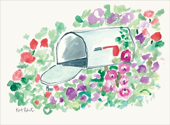 Kait Roberts KR513 - KR513 - Pen Pal - 16x12 Mailbox, Flowers, Abstract from Penny Lane