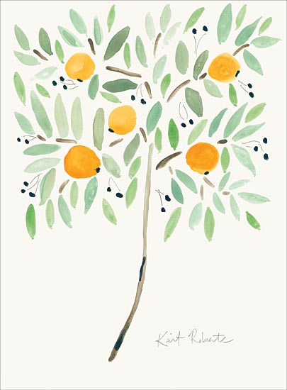 Kait Roberts KR516 - KR516 - The Fruit at the Top of the Tree - 12x16 Oranges, Orange Tree, Abstract, Citrus from Penny Lane
