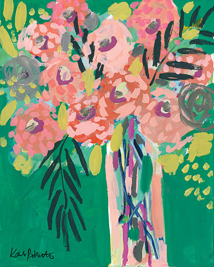 Kait Roberts KR528 - KR528 - Still Life in Jade - 12x16 Flowers, Abstract, Modern from Penny Lane