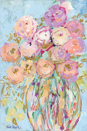 Kait Roberts KR686 - KR686 - After Everything, She Still Bloomed - 12x18 Flowers, Pink and Peach Flowers, Bouquet, Vase, Abstract, Blooms from Penny Lane