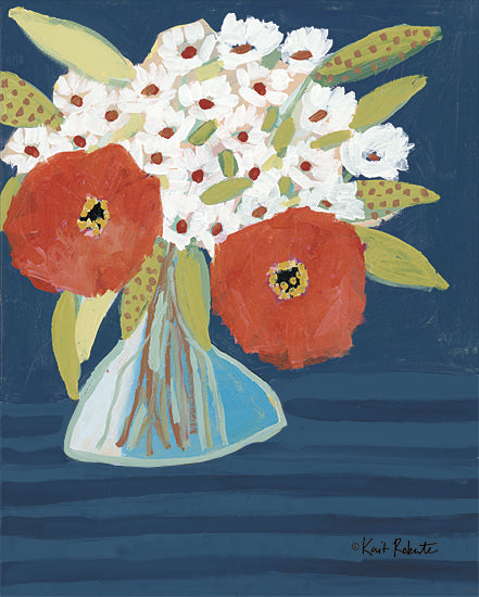Kait Roberts KR692 - KR692 - Better Together    - 12x16 Red and White Flowers, Flowers, Vase, Blooms, Boutique, Botanical, Abstract from Penny Lane