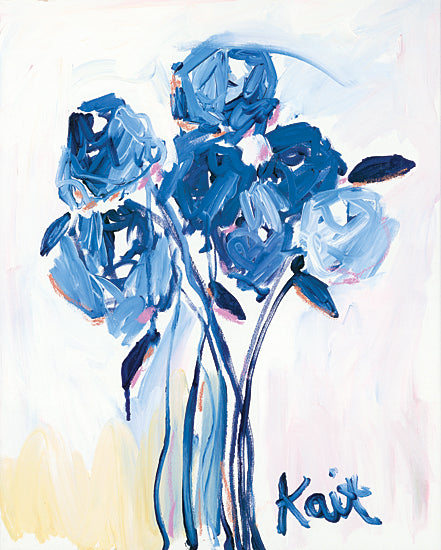 Kait Roberts KR712 - KR712 - Love You Too - 12x16 Abstract, Blue Flowers, Flowers, Blooms, Botanical from Penny Lane