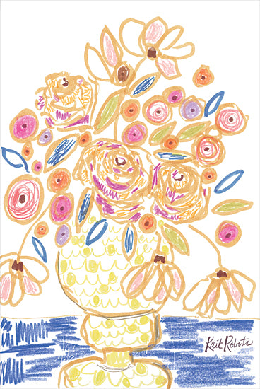 Kait Roberts KR715 - KR715 - Candyland In Flowers - 12x18 Flowers, Abstract, Vase, Boutique, Blooms, Botanical from Penny Lane