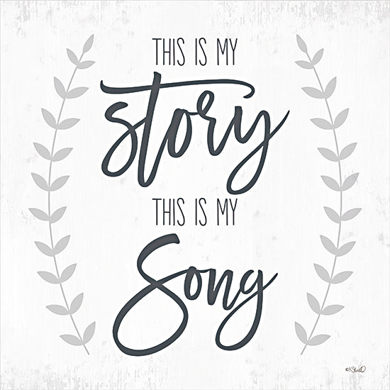 Kate Sherrill KS190 - KS190 - This is My Story I - 12x12 My Story, My Song, Calligraphy, Greenery, Motivational, Signs from Penny Lane