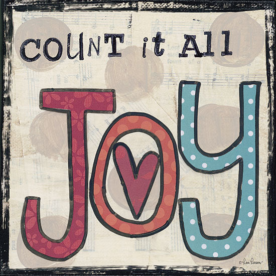 Lisa Larson LAR327 - Count It All Joy - Joy, Heart, Signs, Typography from Penny Lane Publishing