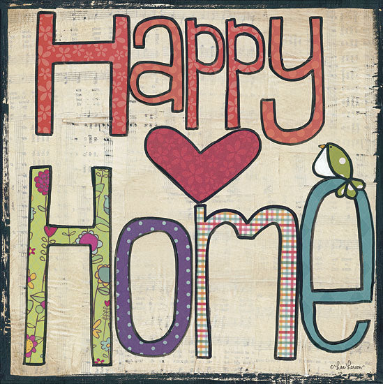 Lisa Larson LAR331 - Happy Home - Home, Signs, Typography from Penny Lane Publishing