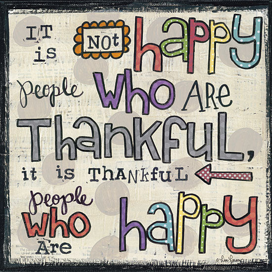 Lisa Larson LAR336 - Thankful People - Happy, Typography, Signs from Penny Lane Publishing