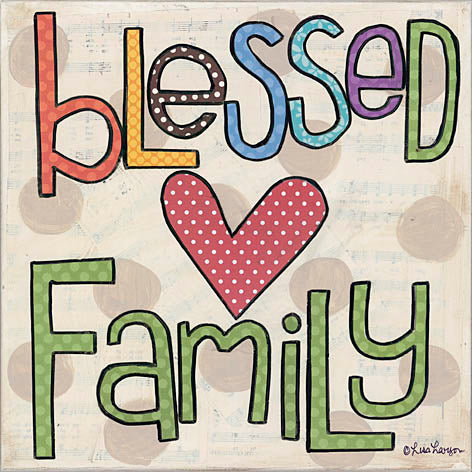 Lisa Larson LAR341 - Blessed Family - Heart, Blessed, Family from Penny Lane Publishing