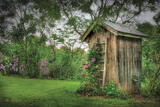 Lori Deiter LD102 - Fragrant Outhouse - Outhouse, Trees, Flowers, Bath from Penny Lane Publishing