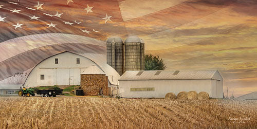 Lori Deiter LD1041 - American Farmland - American Flag, Farm, Barn, Fields, USA from Penny Lane Publishing