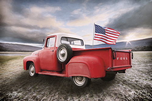 Lori Deiter LD1043 - American Made - Truck, Patriotic, American Flag, Ford from Penny Lane Publishing