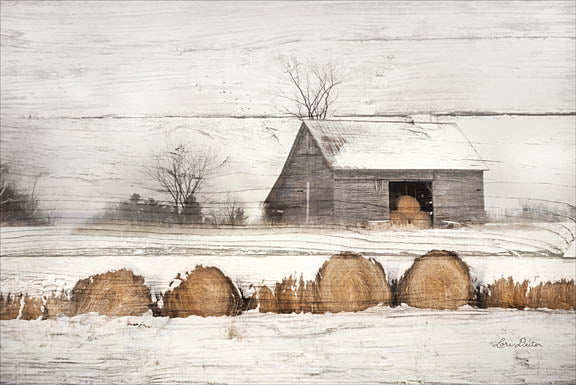 Lori Deiter LD1049 - Vermont Hay - Hay, Snow, Winter, Barn, Farm from Penny Lane Publishing