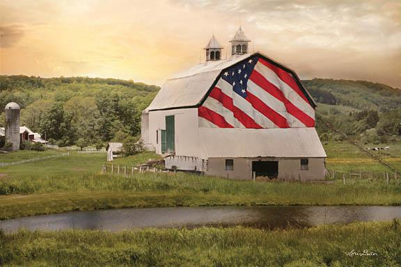Lori Deiter LD1056 - Flag Barn - USA, Barn, Farm, Patriotic from Penny Lane Publishing