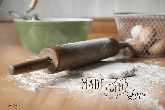 Lori Deiter LD1059 - Made with Love - Kitchen, Rolling Pin, Inspirational, Baking from Penny Lane Publishing