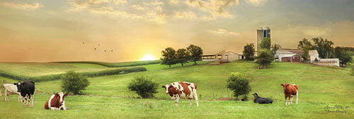Lori Deiter LD1070 - Blessed Morning - Cows, Pasture, Grazing, Barn, Farm from Penny Lane Publishing