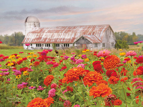 Lori Deiter LD1084 - Vermont Flowers - Flowers, Barn, Field from Penny Lane Publishing