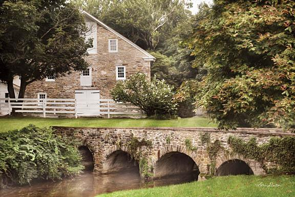 Lori Deiter LD1093 - Old Stone Barn - Barn, Bridge, Trees from Penny Lane Publishing