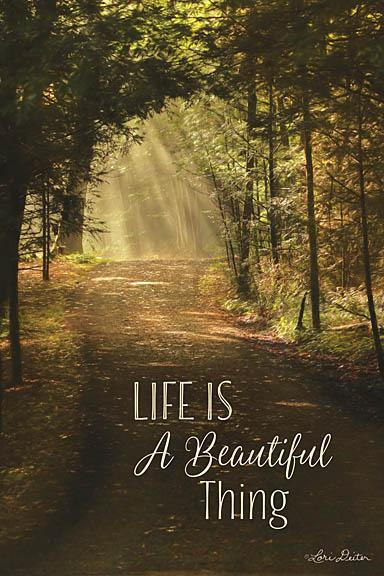 Lori Deiter LD1096 - Life is a Beautiful Thing - Trees, Nature, Sun Beams, Inspirational from Penny Lane Publishing