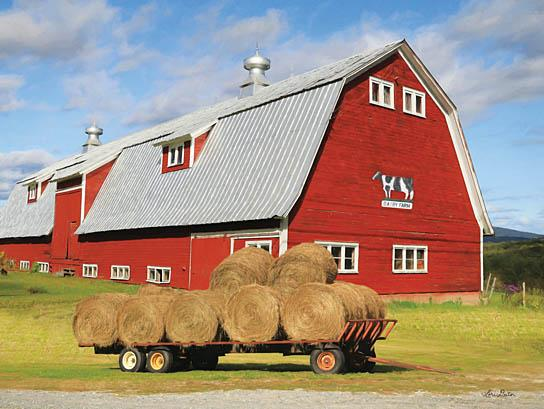 Lori Deiter LD1109 - Vermont Dairy Farm - Dairy, Barn, Hay, Wagon from Penny Lane Publishing