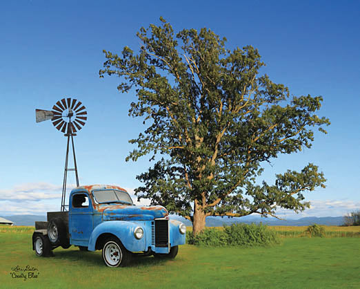 Lori Deiter LD1110 - Country Blue - Truck, Windmill, Tree from Penny Lane Publishing