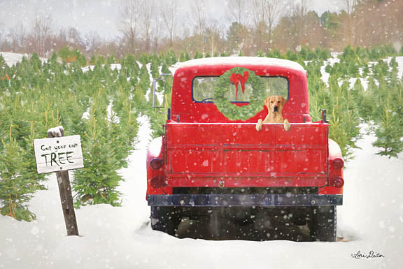 Lori Deiter LD1111 - Cut Your Own Tree - Truck, Tree Farm, Pickup, Snow from Penny Lane Publishing