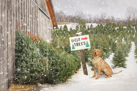 Lori Deiter LD1112 - U-Cut Trees - Dog, Christmas Trees, Tree Farm, Snow from Penny Lane Publishing